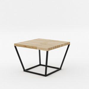 Masa de cafea NOi Oak Square Black, L68xl68xh52 cm