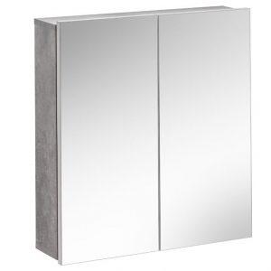 Dulap baie suspendat cu 2 usi si oglinda, Atelier, l60xA15xH65 cm