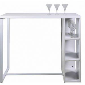Masa de bar Avocet White, L120xl60xh105 cm