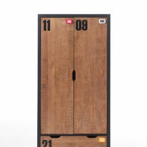Dulap din lemn de pin Alex, l100xA55xH200 cm