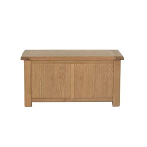 Lada de depozitare din lemn de stejar si furnir Breeze Oak, l100xA50xH50 cm