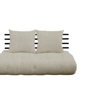Canapea Extensibila 2 locuri, Shin Sano Black Linen, l140xA100xH70 cm