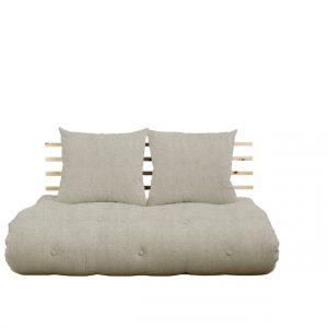 Canapea Extensibila 2 locuri, Shin Sano Natural Linen, l140xA100xH70 cm