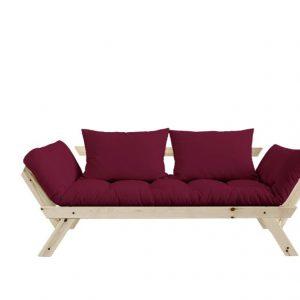 Canapea Extensibila 2 locuri, stofa si cadru lemn de pin, Bebop Natural, l180xA80xH75 cm