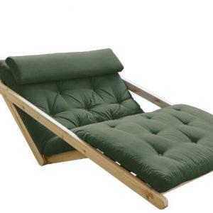 Canapea Extensibila 2 locuri, stofa si cadru lemn de pin, Figo Natural, l130xA185xH82 cm