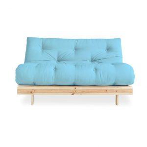 Canapea Extensibila 2 locuri, stofa si cadru lemn de pin, Roots 140 Raw, l140xA108xH84 cm