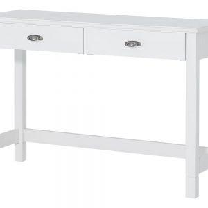 Masa de toaleta / Consola din lemn de mesteacan cu 2 sertare Madison 23 White, l114xA42xH78 cm