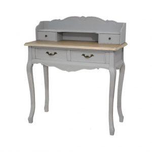 Masa de toaleta / Consola din lemn de plop si MDF cu 4 sertare Catania Grey CAT016S/2B, l90xA40xH103 cm