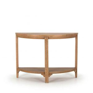 Masuta living / Consola din lemn de stejar si furnir Carmen Oak, l110xA38xH80 cm