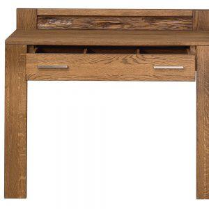 Masa de toaleta / Consola din lemn de stejar cu 1 sertar Velvet 78, l105xA42xH98 cm