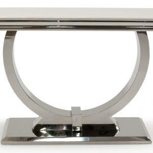 Consola din marmura si metal Arianna Cream, l120xA40xH77 cm