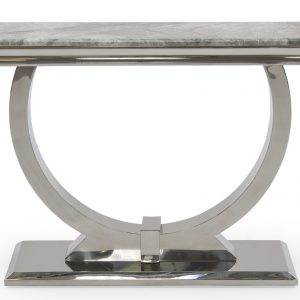Consola din marmura si metal Arianna Grey, l120xA40xH77 cm