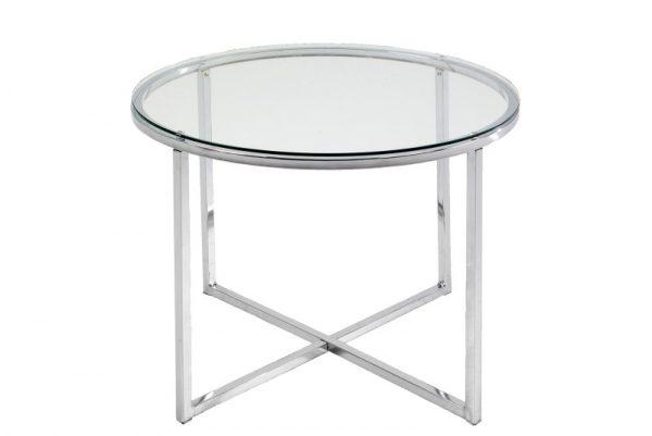 Masuta din sticla Cross Round, O55xh45 cm