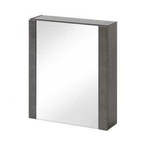 Dulap baie suspendat cu 1 usa si oglinda, Viento, l60xA16xH69 cm