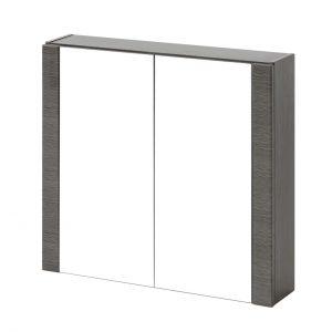 Dulap baie suspendat cu 2 usi si oglinda, Viento, l80xA16xH69 cm