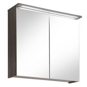 Dulap baie suspendat cu 2 usi si oglinda, 80 cm, Cosmo II, l80xA20xH75 cm
