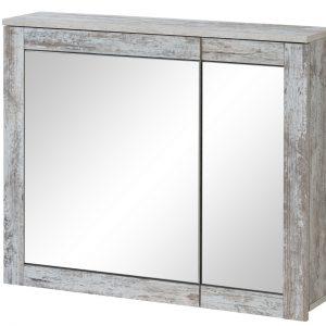 Dulap baie suspendat cu 2 usi si oglinda, Provensia 2, l82xA20xH70 cm