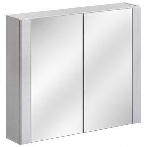Dulap baie suspendat cu 2 usi si oglinda, Viento Terra, l80xA16xH69 cm