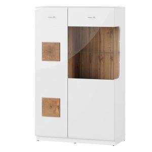 Dulap cu vitrina Small Wood 15, l89xA40xH145 cm
