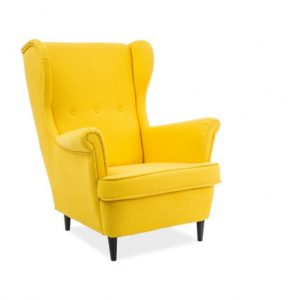 Fotoliu fix tapitat cu stofa, Lord Yellow Vidar 66, l72xA56xH101 cm