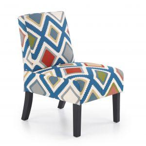 Fotoliu tapitat cu stofa, cu picioare din lemm Fido Multicolored, l52xA65xH75 cm