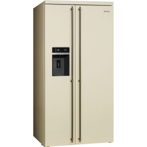 Frigider Side by side SBS8004PO, Crem, 91 cm, Coloniale, SMEG