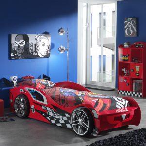 Set Mobila dormitor din MDF, pentru copii 2 piese Grand Turismo Red