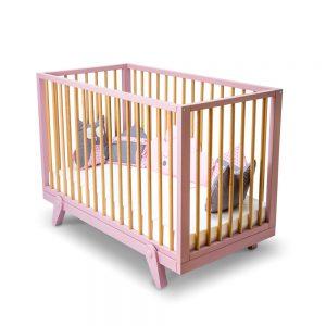 Patut din lemn de fag si MDF pentru bebe Isabelle, l126xA66xH89 cm