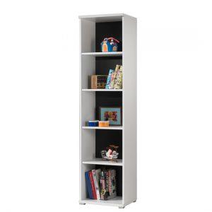 Biblioteca din pal Josh White / Black, l50xA46xH198,80 cm