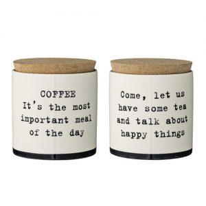 Set 2 cutii ceramice pentru cafea Josephine