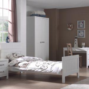 Set Mobila dormitor din MDF, pentru copii 4 piese Lewis White
