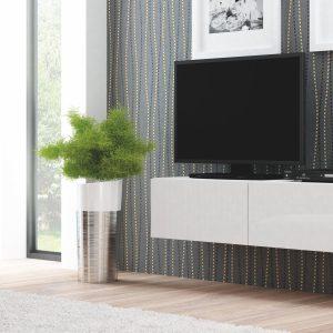 Comoda TV din MDF Livo RTV-160W White, l160xA40xH30 cm