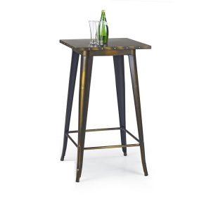 Masa de bar din metal SB-8 Yellow Cooper, L60xl60xH106 cm