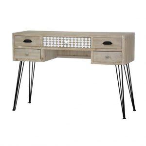 Masa de birou din lemn de plop si MDF, Loano LO014
