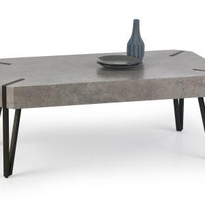 Masa de cafea din MDF si metal Emily Grey, L110xl60xh42 cm