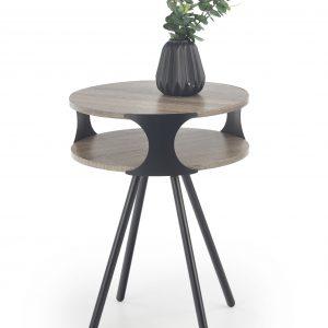 Masa de cafea din MDF si metal Kirby, O45xh60 cm