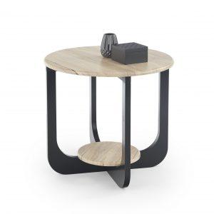 Masa de cafea din MDF si metal Odlia S, O60xh55 cm