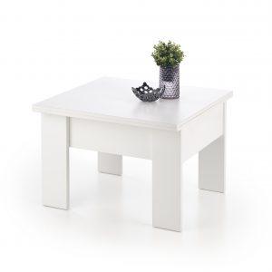 Masa de cafea Serafin White, L80-160xl80xh53-79 cm