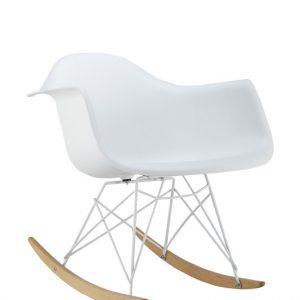 Fotoliu balansoar din plastic Mondi II White, l62xA45xH73 cm