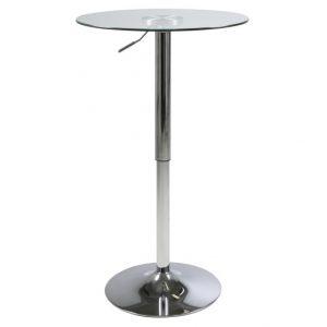 Masa de bar din sticla Nido, O60xh83-104 cm