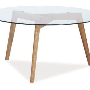 Masa de cafea din sticla Oslo L2, O80xh45 cm
