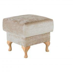 Taburet tapitat, cu picioare din lemn Paris, l52xA52xH47 cm