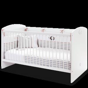Patut din pal, pentru bebe Baby Cotton White, 140 x 70 cm