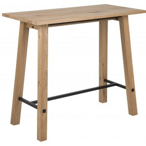 Masa de bar din lemn si furnir Stockholm Nature, L120xl60xh105 cm