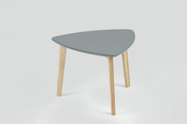 Masuta din lemn si MDF Vitis Small Dark Grey, L50xl50xh36 cm