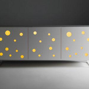 Dulap Polka Dots Fullwhite, l192xA49xH96 cm