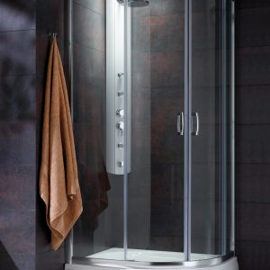 Cabina de dus semirotunda Radaway Premium Plus E 1900 120x90 cm sticla transparenta