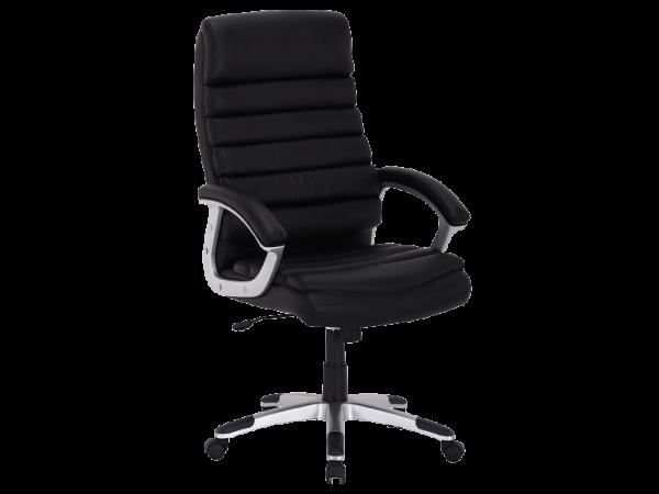 Scaun de birou directorial, tapitat cu piele ecologica Q-087 Black, l66xA50xH115-125 cm