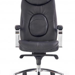 Scaun de birou directorial tapitat cu piele ecologica Quad Black, l63xA70xH124-132 cm