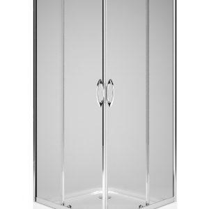 Cabina de dus patrata Kolo Rekord 90x90 profil crom lucios sticla clara 4mm
